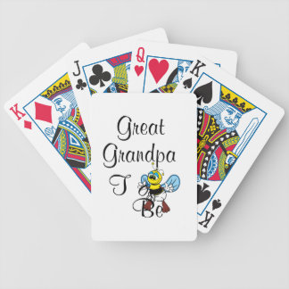 Playful Great Grandpa To Be Deck Of Cards