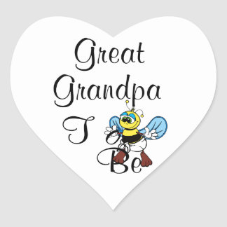 Playful Great Grandpa To Be Heart Sticker