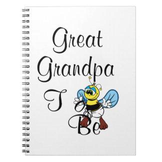 Playful Great Grandpa To Be Notebooks