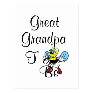 Playful Great Grandpa To Be Postcard