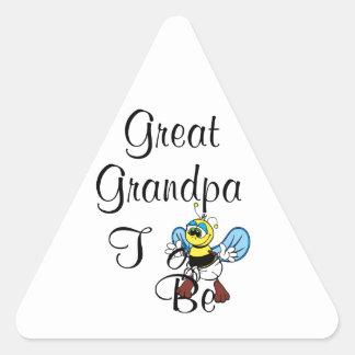 Playful Great Grandpa To Be Triangle Sticker