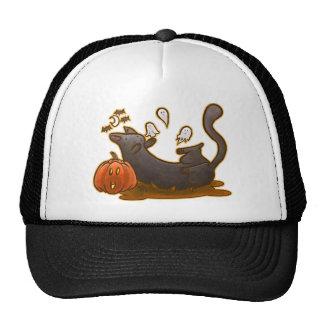 Playful Halloween Kitty Trucker Hat Trucker Hat