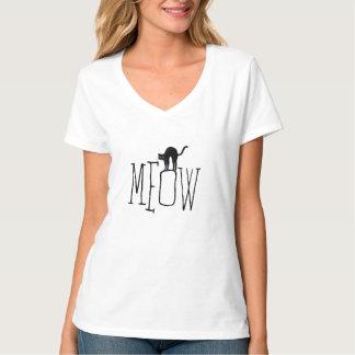 "Playful Halloween ""MeoW"" Black Cat Orange T-shirt"