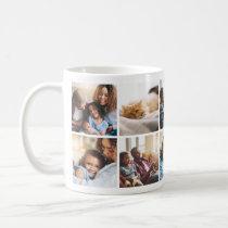 Playful Happy Family Photo Collage Mug