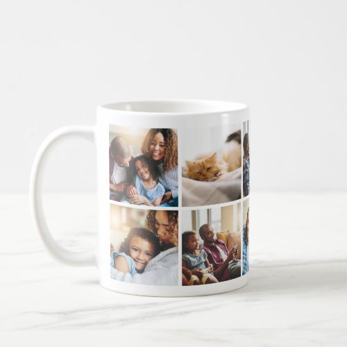 Playful Happy Family Photo Collage Mug