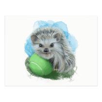 Playful hedgehog Postcard