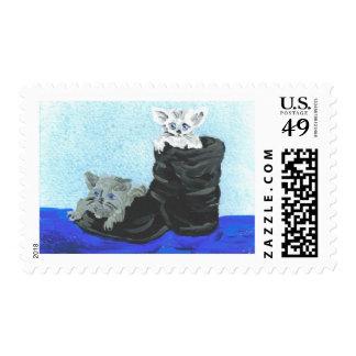 Playful Hide and Seek Kittens Postage