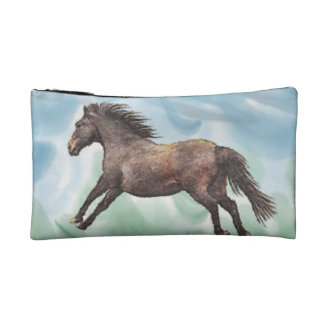 Playful Horse Art Equine-lover's Cosmetics Purse