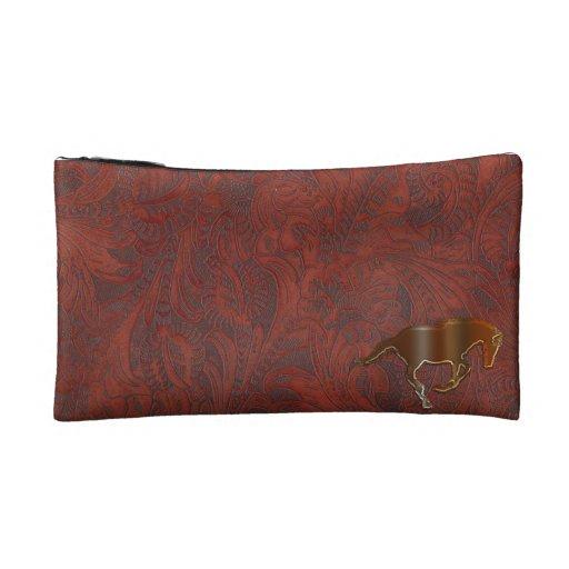 Playful Horse Logo Art Equine Cosmetics Bag Makeup Bag