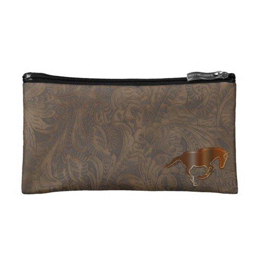 Playful Horse Logo Art Equine Cosmetics Bag Makeup Bags