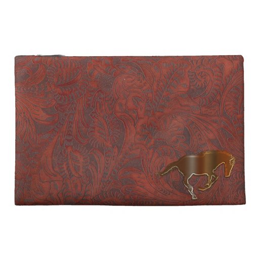 Playful Horse Logo Leather-look Equine Art Travel Accessory Bags