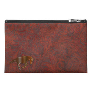 Playful Horse Logo Leather-look Equine Art Travel Accessory Bag
