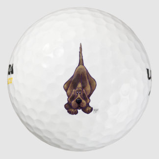 Playful Hound Dog Gifts & Accessories Golf Balls