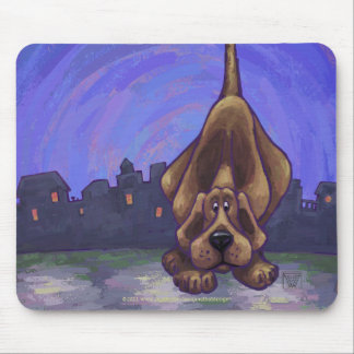Playful Hound Dog Gifts & Accessories Mouse Pad