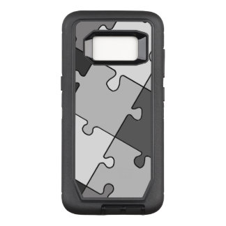Playful Jigsaw Puzzle Gray OtterBox Defender Samsung Galaxy S8 Case