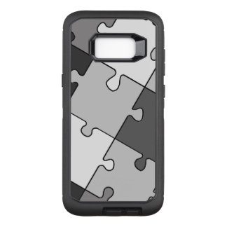 Playful Jigsaw Puzzle Gray OtterBox Defender Samsung Galaxy S8+ Case