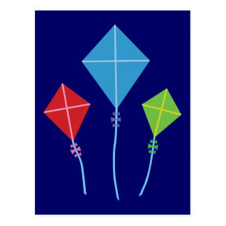 Playful Kites Postcard