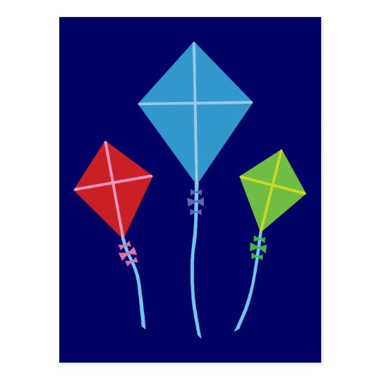 Playful Kites Postcard
