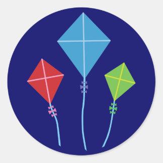 Playful Kites Round Sticker