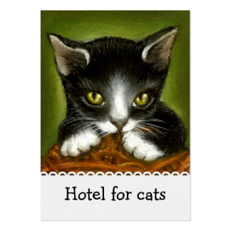 Playful kitten business cards