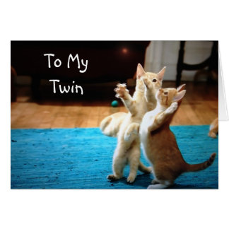 PLAYFUL KITTENS SAY LOVE YOU TWIN CARD