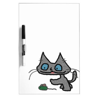 Playful Kitty And His Mouse Toy Dry-Erase Whiteboard