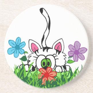Playful kitty Coaster
