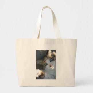 Playful Kitty Large Tote Bag