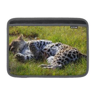 Playful Leopard MacBook Sleeve
