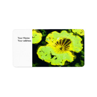Playful Lilly Pad, Your NameYour address Label