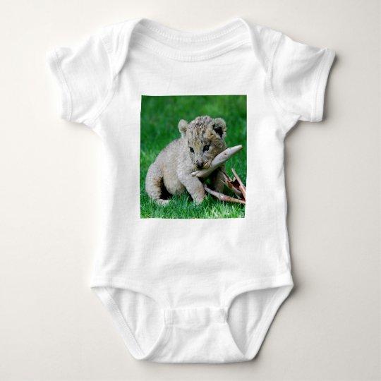 Playful lion baby bodysuit
