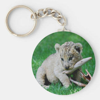 Playful lion keychain