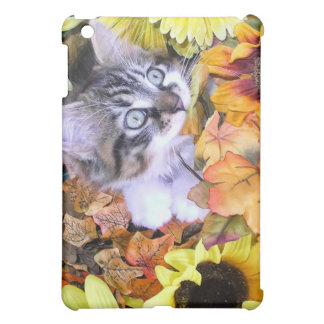 Playful Maine Coon Kitty Cat Kitten in Sunflowers Cover For The iPad Mini
