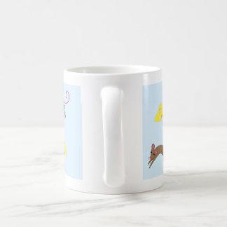 Playful mice basic white mug