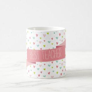 PLAYFUL MODERN HEARTS bright whimsical pattern Coffee Mugs
