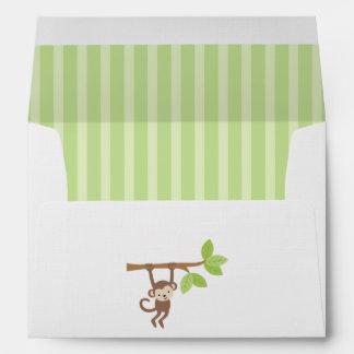 Playful Monkey Birthday Party Envelope