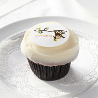 Playful Monkey Edible Frosting Rounds