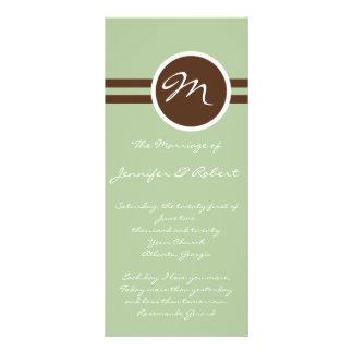 Playful Monogram in Sage Brown Wedding Program
