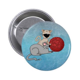 Playful Mouse Pinback Button