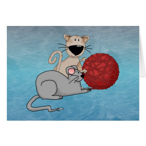Playful Mouse Greeting Card