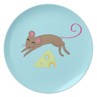 Playful mouse dinner plates