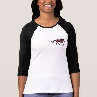 Playful Mustang Chestnut Horse logo Shirt
