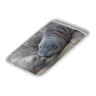Playful Northern Elephant Seal Pups - San Simeon Sleeve For MacBook Air