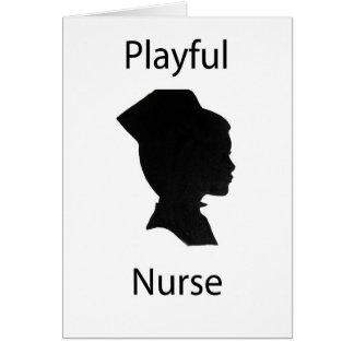 playful nurse greeting card