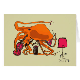 playful octopus stationery note card