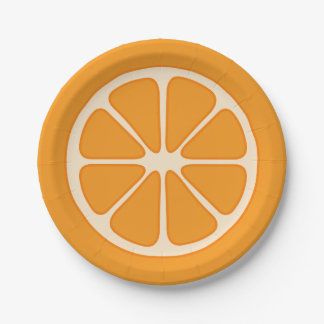 Playful Orange Slice Paper Plate