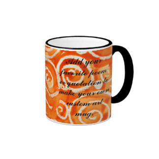 Playful Orange Swirls Watercolor Painting Mug
