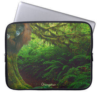Playful Orangutan & in Borneo Jungle Computer Sleeve