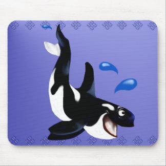 Playful Orca Mousepad
