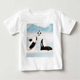 PLAYFUL ORCA WHALE WHALES PLAYING SOCCER BABY T-Shirt